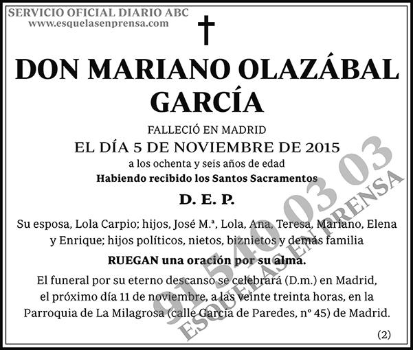 Mariano Olazábal García